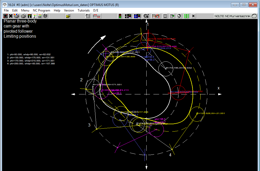 Mechanism Indexer And Cam Design Software Optimus Motus